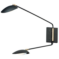 Maxim 21692BKSBR Scan LED Black and Satin Brass Wall Sconce Wall Light