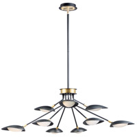 Maxim 21699BKSBR Scan LED 43 inch Black and Satin Brass Chandelier Ceiling Light