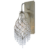 Maxim 22001BCGS Twirl 1 Light 7 inch Golden Silver Wall Sconce Wall Light in Beveled Crystal