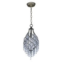 Maxim 22003BCGS Twirl 1 Light 8 inch Golden Silver Single Pendant Ceiling Light in Beveled Crystal