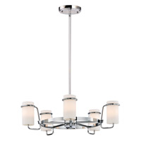 Avant 5 Light 22 inch Polished Chrome Single-Tier Chandelier Ceiling Light
