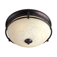 Cupola 3 Light 15 inch Oil Rubbed Bronze Flush Mount Ceiling Light