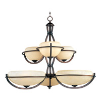 Maxim Lighting Cupola 6 Light Multi-Tier Chandelier in Oil Rubbed Bronze 22106FLOI