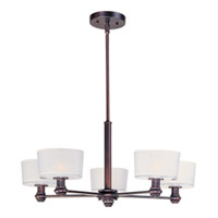Maxim Lighting Discus 5 Light Multi-Tier Chandelier in Oil Rubbed Bronze 22165FTOI