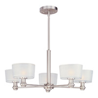 Maxim Lighting Discus 5 Light Multi-Tier Chandelier in Satin Nickel 22165FTSN