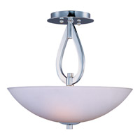 Elan 3 Light 16 inch Polished Chrome Semi Flush Mount Ceiling Light