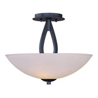 Maxim Lighting Elan 3 Light Semi Flush Mount in Texture Ebony 22172SWTE