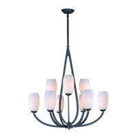 Maxim Lighting Elan 9 Light Multi-Tier Chandelier in Texture Ebony 22176SWTE