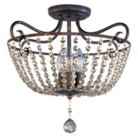 Adriana 3 Light 18 inch Urban Rustic Semi Flush Mount Ceiling Light