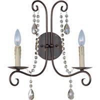 Maxim 22192UR Adriana 2 Light 14 inch Urban Rustic Wall Sconce Wall Light photo thumbnail