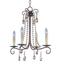 Maxim 22194UR Adriana 4 Light 18 inch Urban Rustic Single Tier Chandelier Ceiling Light