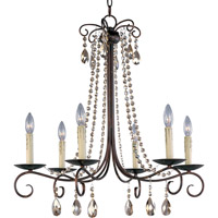 Maxim 22196UR Adriana 6 Light 27 inch Urban Rustic Single Tier Chandelier Ceiling Light