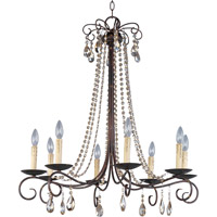 Adriana 8 Light 32 inch Urban Rustic Single Tier Chandelier Ceiling Light