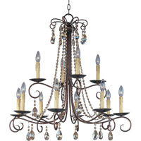 Adriana 12 Light 32 inch Urban Rustic Multi-Tier Chandelier Ceiling Light