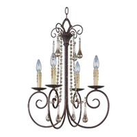 Maxim Lighting Adriana 4 Light Single Tier Chandelier in Urban Rustic 22204UR