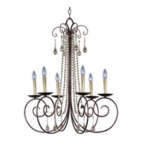 Maxim Lighting Adriana 6 Light Single Tier Chandelier in Urban Rustic 22206UR
