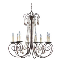 Maxim Lighting Adriana 8 Light Single Tier Chandelier in Urban Rustic 22207UR
