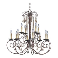 Maxim Lighting Adriana 12 Light Multi-Tier Chandelier in Urban Rustic 22209UR photo thumbnail