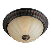 Maxim Lighting Fremont 2 Light Flush Mount in Platinum Dusk 22240WSPD
