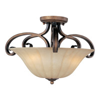 Maxim Lighting Fremont 3 Light Semi Flush Mount in Platinum Dusk 22241WSPD
