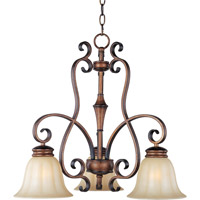 Maxim Lighting Fremont 3 Light Down Light Chandelier in Platinum Dusk 22244WSPD