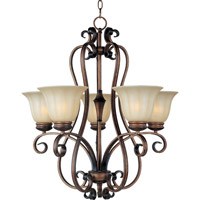Maxim 22245WSPD Fremont 5 Light 25 inch Platinum Dusk Single Tier Chandelier Ceiling Light
