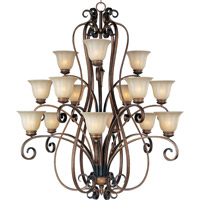 Maxim Lighting Fremont 15 Light Multi-Tier Chandelier in Platinum Dusk 22247WSPD