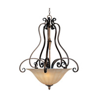 Maxim Lighting Fremont 4 Light Invert Bowl Pendant in Platinum Dusk 22250WSPD
