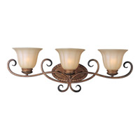 Maxim Lighting Fremont 3 Light Bath Light in Platinum Dusk 22253WSPD