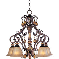 Maxim 22264EMFL Dresden 5 Light 27 inch Filbert Down Light Chandelier Ceiling Light
