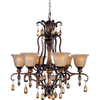 Maxim 22265EMFL Dresden 6 Light 30 inch Filbert Single Tier Chandelier Ceiling Light