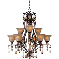 Maxim 22266EMFL Dresden 9 Light 35 inch Filbert Multi-Tier Chandelier Ceiling Light