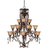 Maxim 22268EMFL Dresden 15 Light 47 inch Filbert Multi-Tier Chandelier Ceiling Light