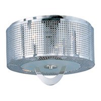 Maxim 22300PN Mirage 3 Light 16 inch Polished Nickel Flush Mount Ceiling Light