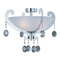 Maxim Lighting Cyclone 3 Light Semi Flush Mount in Polished Chrome 22321FTPC