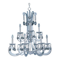 Maxim Lighting Cyclone 9 Light Multi-Tier Chandelier in Polished Chrome 22327PC
