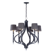 Maxim 22335CLIO/SHD2233 Hendrick 6 Light 31 inch Iron Ore Chandelier Ceiling Light