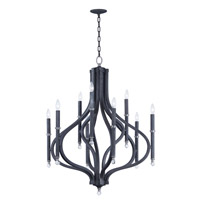 Maxim 22337CLIO Hendrick 9 Light 32 inch Iron Ore Chandelier Ceiling Light