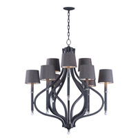 Maxim 22337CLIO/SHD2233 Hendrick 9 Light 37 inch Iron Ore Chandelier Ceiling Light