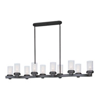 Maxim Lighting Bayview 10 Light Island Pendant in Bronze 22348CLFTBZ