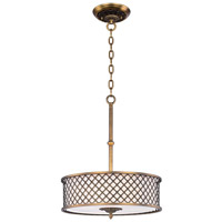 Maxim Lighting Manchester 4 Light Single Pendant in Natural Aged Brass 22363OMNAB