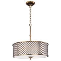 Manchester 6 Light 27 inch Natural Aged Brass Single Pendant Ceiling Light