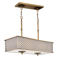 Maxim Lighting Manchester 8 Light Island Pendant in Natural Aged Brass 22365OMNAB