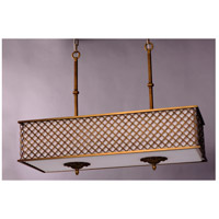 Maxim Lighting Manchester 8 Light Island Pendant in Natural Aged Brass 22365OMNAB alternative photo thumbnail