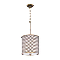 Maxim Lighting Manchester 4 Light Single Pendant in Natural Aged Brass 22367OMNAB