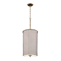 Maxim Lighting Manchester 6 Light Pendant in Natural Aged Brass 22368OMNAB