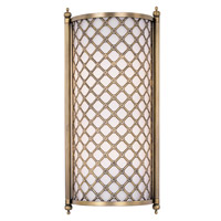 Maxim Lighting Manchester 2 Light Wall Sconce in Natural Aged Brass 22369SWNAB