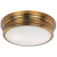 Fairmont 2 Light 13 inch Natural Aged Brass Flush Mount Ceiling Light
