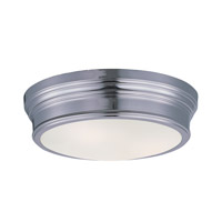 Maxim Lighting Fairmont 2 Light Flush Mount in Polished Nickel 22370SWPN