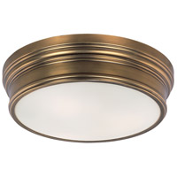 Fairmont 3 Light 16 inch Natural Aged Brass Flush Mount Ceiling Light